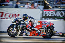 Shawn Gann- Pirana Z Pro Stock Bike- NHRA